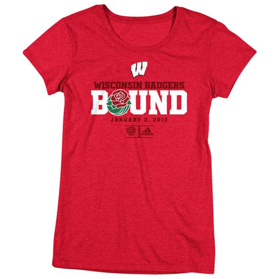 Wisconsin Badgers Rose Bowl Bound Women's Cap Sleeve T-Shirt