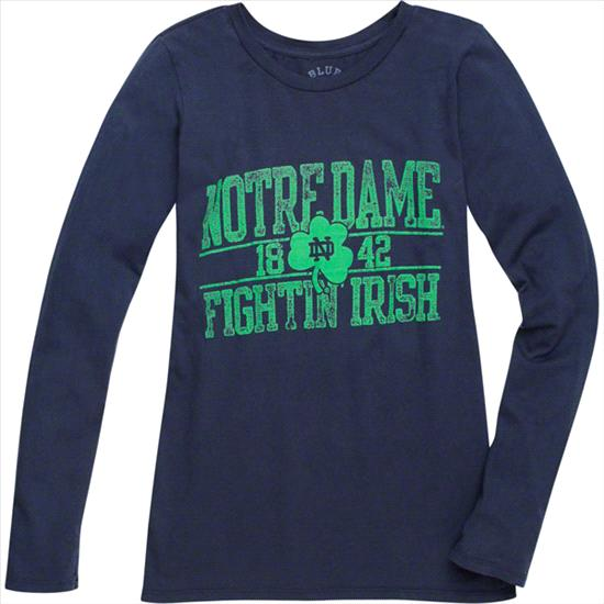 Notre Dame Fighting Irish Women's Browser Scoopneck Long Sleeve T-Shirt