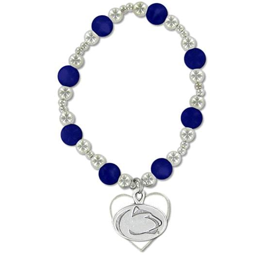 Penn State Nittany Lions School Charm Beaded Bracelet