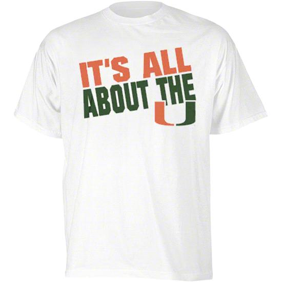 Miami Hurricanes White 'It's All About The U' Slogan T-Shirt