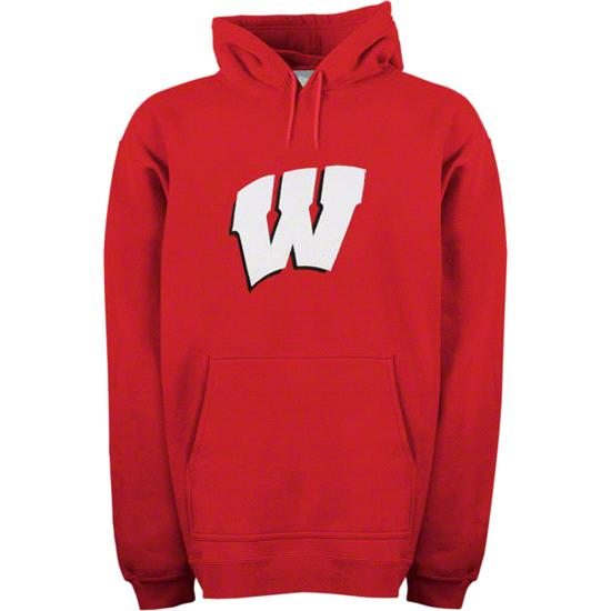 Wisconsin Badgers adidas Red Bucky Hooded Sweatshirt