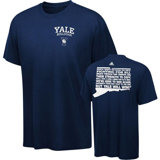 Yale Bulldogs Navy adidas Fight Fight Fight T-Shirt