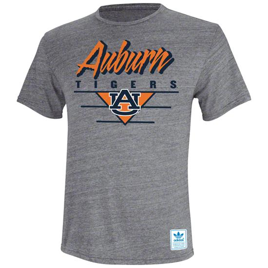 Auburn Tigers Heather Grey adidas Originals Blazing Tri-Blend T-Shirt