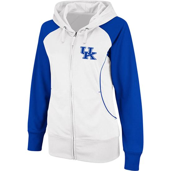 Kentucky Wildcats Women's Team Sleeve Full-Zip Hooded Sweatshirt