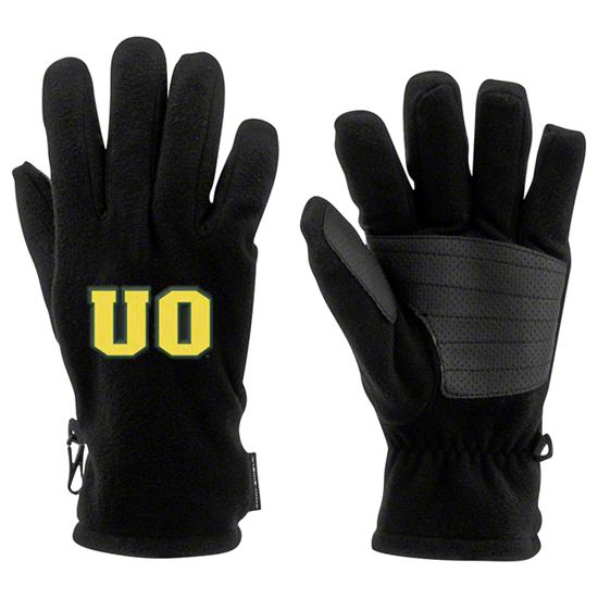 Oregon Ducks Black Columbia Thermarator Gloves