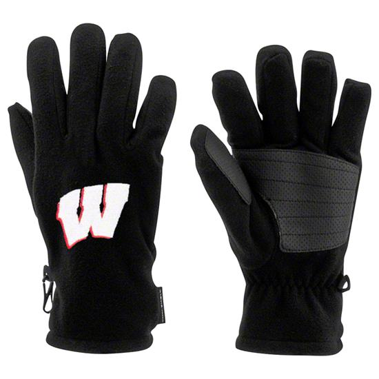 Wisconsin Badgers Black Columbia Thermarator Gloves