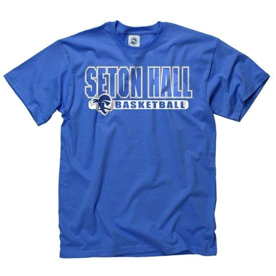 Seton Hall Pirates Royal Show Thru Basketball T-Shirt