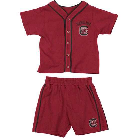 South Carolina Gamecocks Garnet Infant Outfield T-shirt and Shorts Set