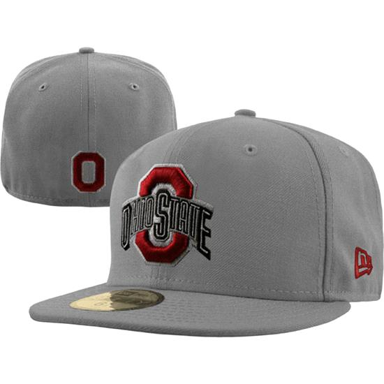 Ohio State Buckeyes New Era Grey 59FIFTY Fitted Hat