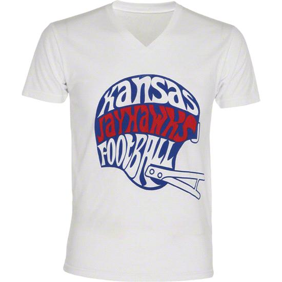 Kansas Jayhawks adidas College Skewed V-Neck T-Shirt