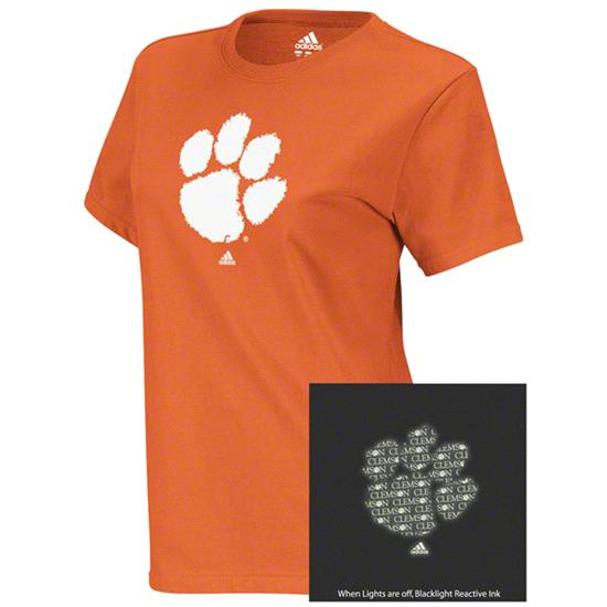 Clemson Tigers adidas Orange Women's X-Ray Too Blacklight Reactive T-Shirt