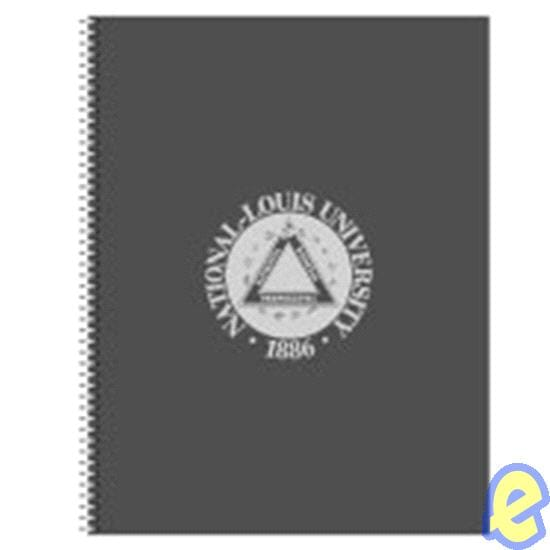 NLU Notebook, Dark Grey, 3 Subject