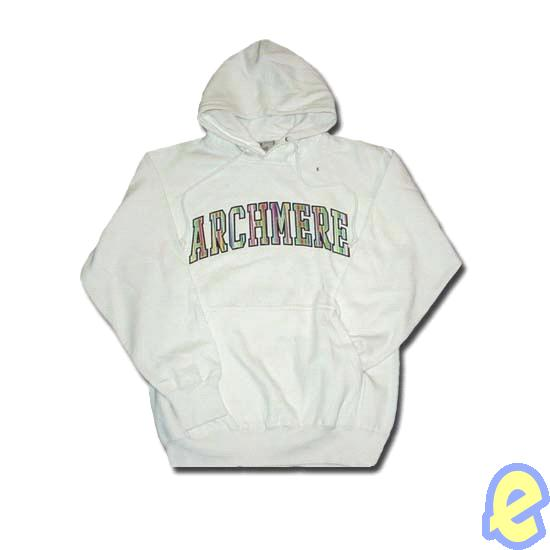 Archmere White Striped Appliqued Hoody