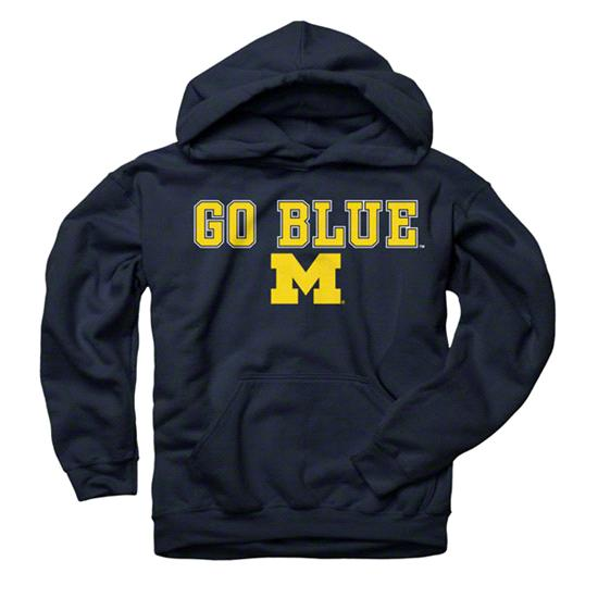 Michigan Wolverines Youth Navy Lingo Hooded Sweatshirt