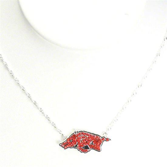 Arkansas Razorbacks Rhinestone Necklace