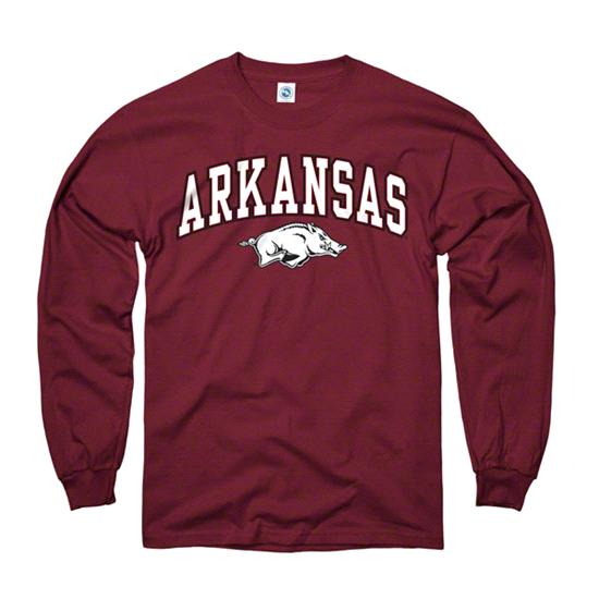 Arkansas Razorbacks Youth Cardinal Perennial II Long Sleeve T-Shirt