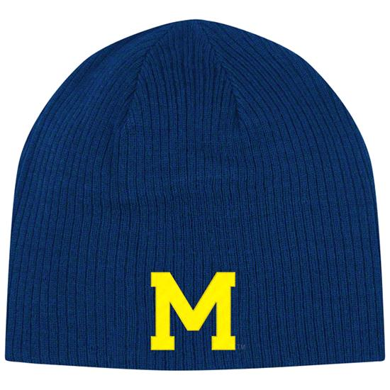 Michigan Wolverines adidas Navy Homecoming Reversible Knit Hat