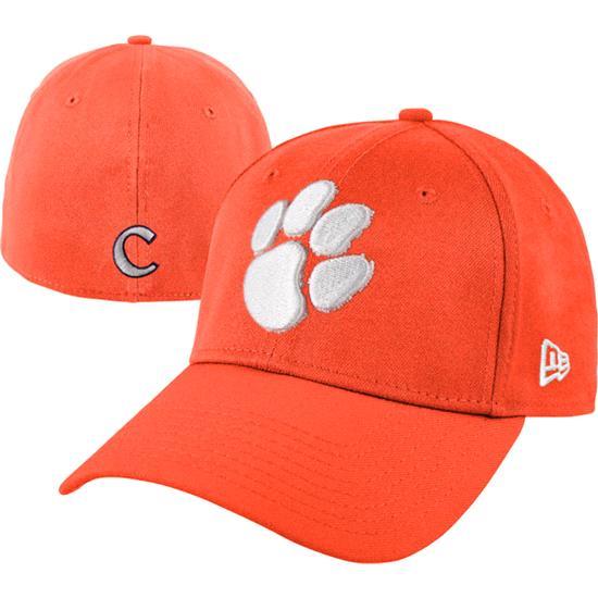 Clemson Tigers New Era Orange 39THIRTY Classic Flex Hat