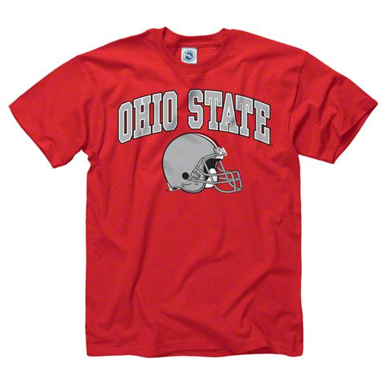 Ohio State Buckeyes Red Football Helmet T-Shirt