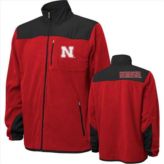 Nebraska Cornhuskers Youth Red Micro Polar Fleece Full Zip Jacket