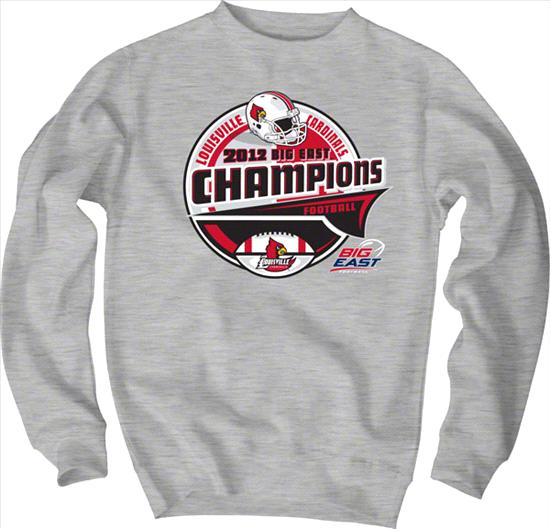 Louisville Cardinals 2012 Big East Conference Football Champions Sparkle Crewneck Sweatshirt