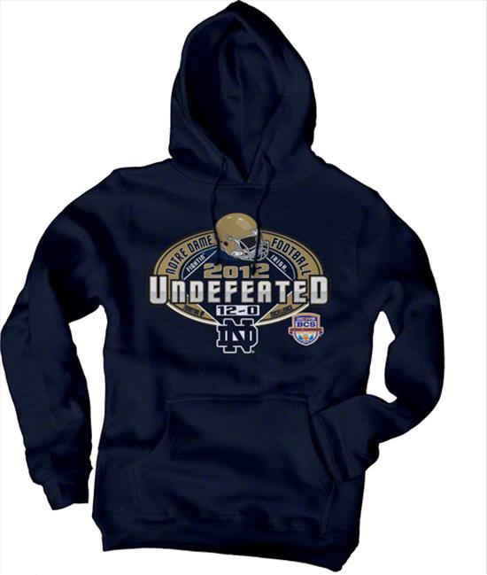 Notre Dame Fighting Irish 2012 Undefeated Season Hooded Sweatshirt - Navy