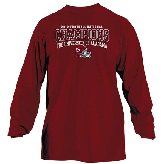 Alabama Crimson Tide 2013 BCS National Champions Long Sleeve T-Shirt