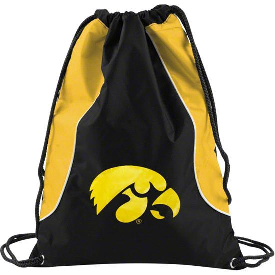 Iowa Hawkeyes Yellow Axis Backsack