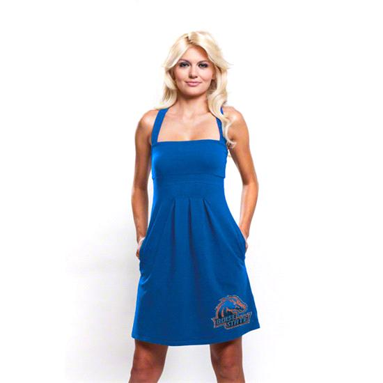 Boise State Broncos Women's Pleated Dress with Pockets