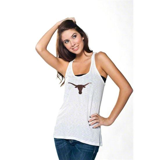 Texas Longhorns Women's White Oversized Tank