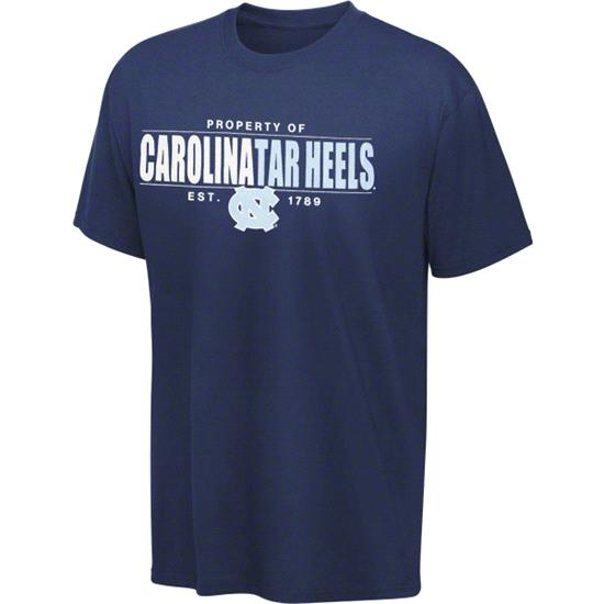 North Carolina Tar Heels Navy Zone Cube T-Shirt