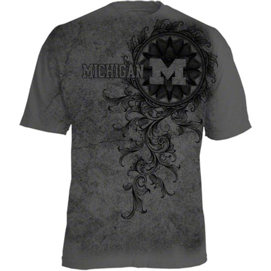 Michigan Wolverines Charcoal Vines T-Shirt
