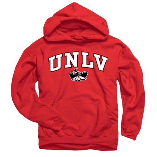UNLV Runnin Rebels Youth Red Perennial II Hooded Sweatshirt