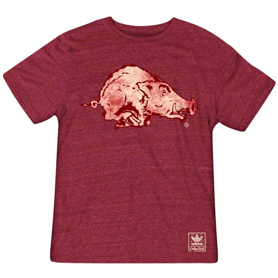 Arkansas Razorbacks Heather Cardinal adidas Originals The Balboa Tri-Blend T-Shirt