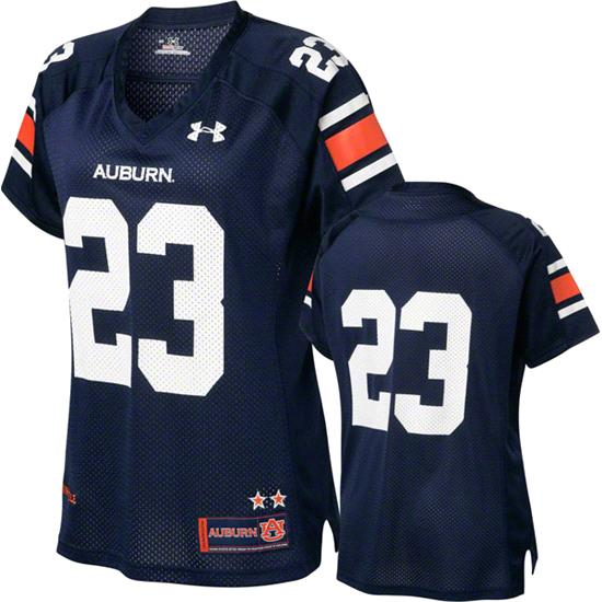 Auburn Tigers 2012 Replica Football Jersey: Women's Navy Under Armour # Replica Football Jersey