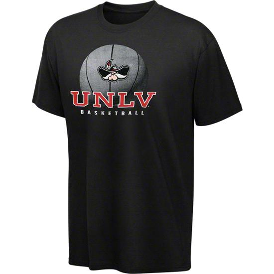 UNLV Runnin Rebels Black Spirit Basketball T-Shirt