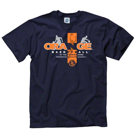 Syracuse Orange Navy Home Turf Basketball T-Shirt