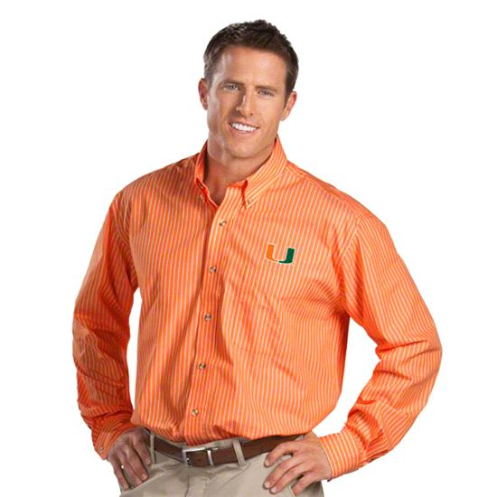 Miami Hurricanes Orange Class Long Sleeve Dress Shirt