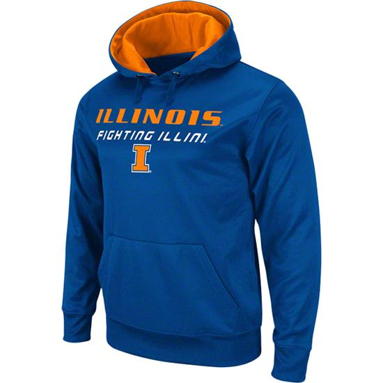 Illinois Fighting Illini Orange Bootleg Hooded Sweatshirt