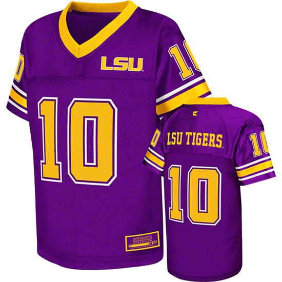 LSU Tigers Kids 4-7 Purple Stadium Football Jersey