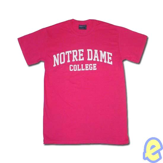 NDC Block Arch Tee- Hot Pink