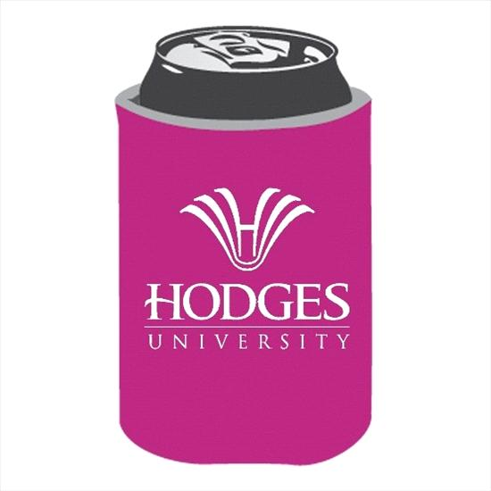 Hodges University Collapsible Can Cooler - Neon Pink