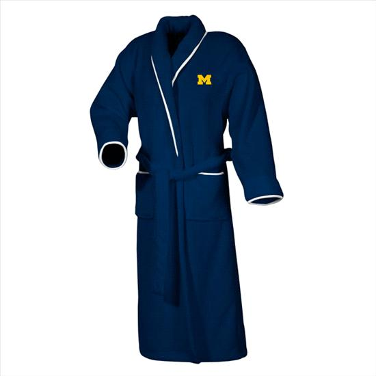 Michigan Wolverines Women's Navy Team Plush Fleece Robe