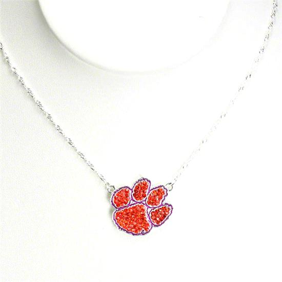 Clemson Tigers Rhinestone Necklace