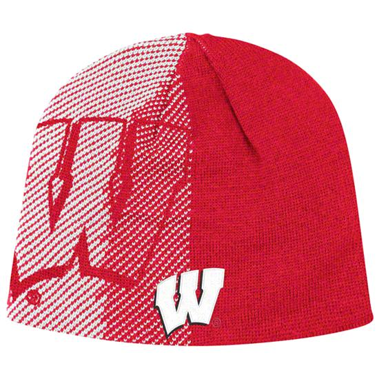 Wisconsin Badgers adidas Red Player Reversible Knit Hat