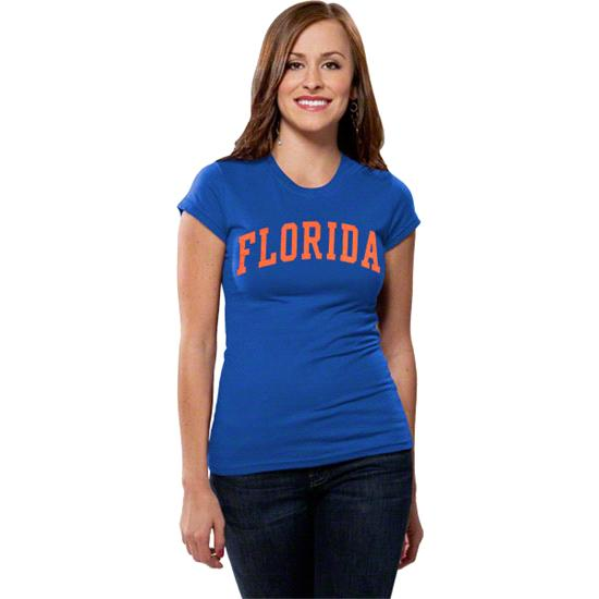 Florida Gators Women's Royal Jr. Varsity Team Arch T-Shirt