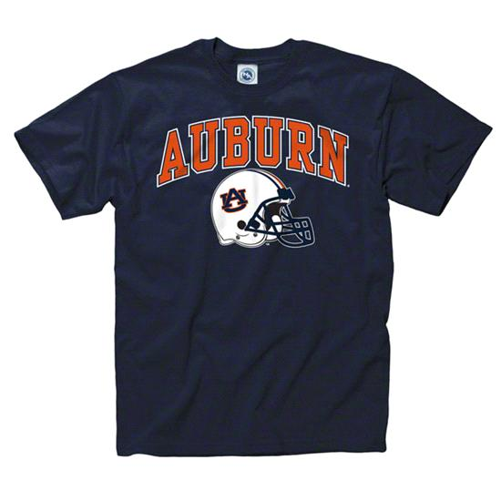 Auburn Tigers Youth Navy Football Helmet T-Shirt