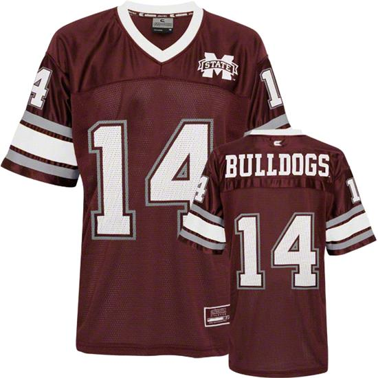 Mississippi State Bulldogs Youth Stadium Football Jersey