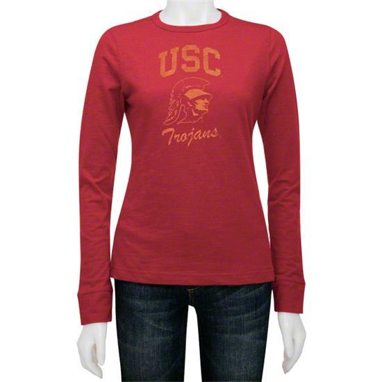 USC Trojans Women's Gulf Slub Long Sleeve Tee