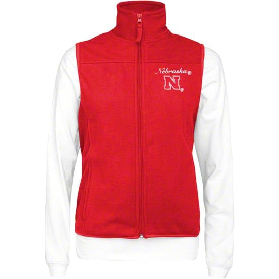 Nebraska Cornhuskers Women's Wind Vest/Long Sleeve Mockneck Combo Pack